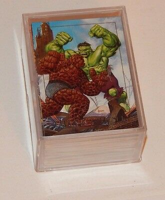 1992 Skybox Marvel Masterpieces 100 card set with five Spectra chase cards 105