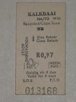 South Africa Railway Ticket - Kalkbaai/Capetown, 1978