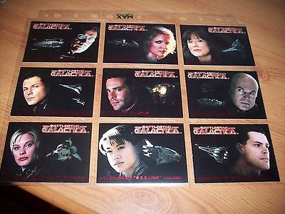 Battlestar Galactica Premiere 9 Card Chase Set Complete