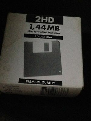 5 Di Scatole Floppy Disk 2Hd - 1,44 Mb Ibm Formatted Diskettes   5  Scatole
