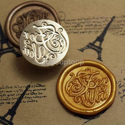For You Symbol Wax Seal Stamp Initial Invitation Letter Sealing Label