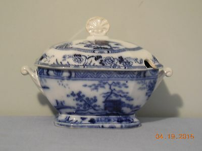 Hong Kong Flow Blue Sauce Tureen By Charles Meigh