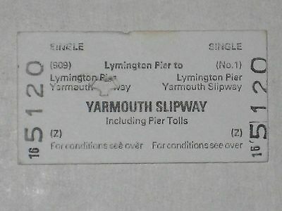 Vintage Ferry Ticket - Lymington Pier to Yarmouth, Isle of Wight, Sealink 1987