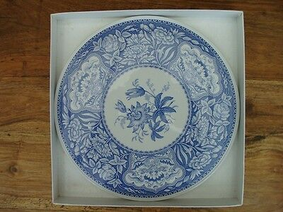 Spode Large Blue and White China Cake Plate or Cheese Platter