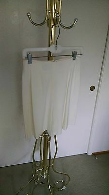 DKNY Donna Karan vintage high waist dress shorts in winter white (women 6)