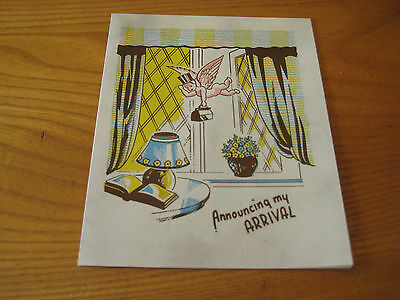 Vintage New Baby Annoucement Card - Unused