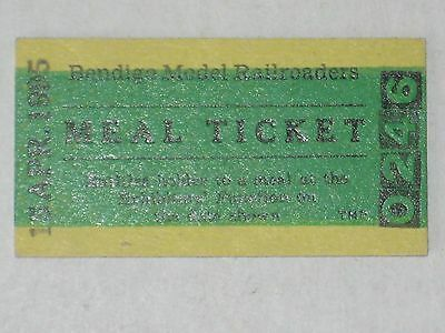 Bendigo Model Railroaders MEAL Ticket - Australia, 1995
