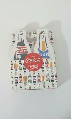Limited Edition Coca Cola Bottle Shaped Playing Cards Fanta Sprite Tab and Coke