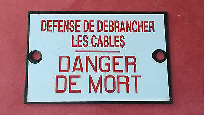 Ancienne Plaque Emaillee Sncf