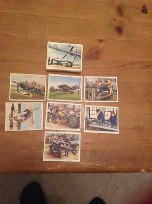Churchman's cigarette cards - The RAF at Work- complete set