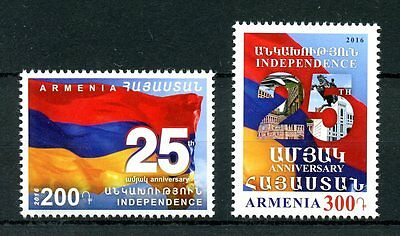 Armenia 2016 MNH Independence 25th Anniversary 2v Set Flags Stamps