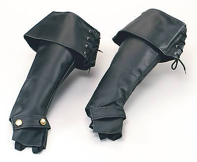 FANCY DRESS Black Boot Tops Pirate Deluxe