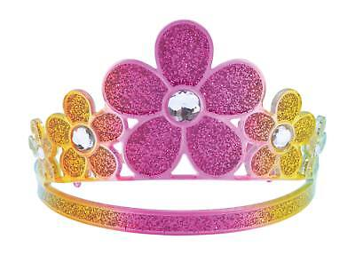 FANCY DRESS Glitter Rainbow Flower Tiara