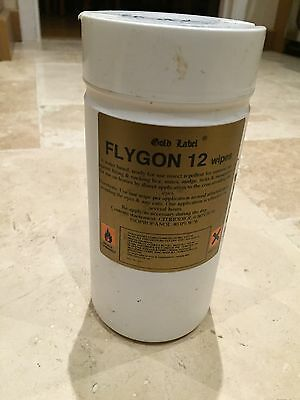 Gold Label Flygon 12 Insect Repellent Fly Midge Wipes