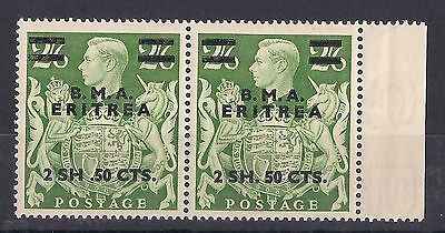 Eritrea British Occupation: 1948 BMA KGVI 2sh50c on 2/6 misplaced stop variety