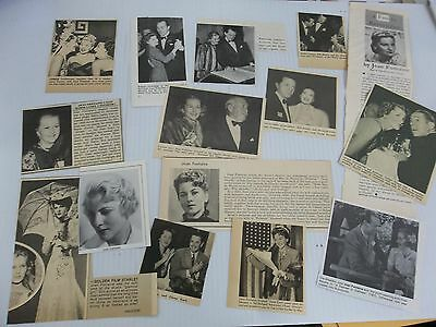 Joan Fontaine   lot of clippings #KL