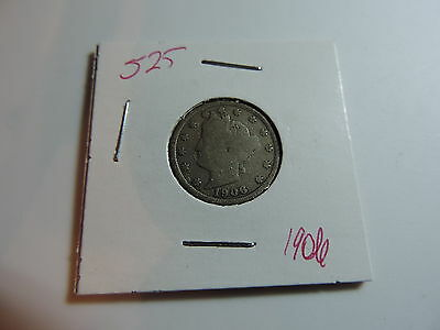 1906 US American Nickel coin A479