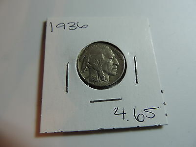 1936 US American Nickel coin A490