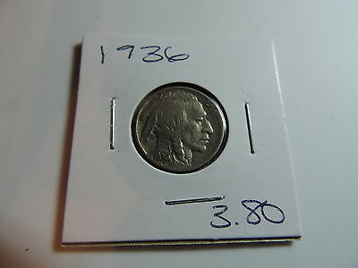 1936 US American Nickel coin A495