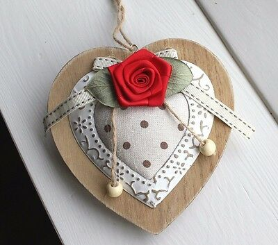 HANGING PADDED HEART Mothers Day Gift Daughter for Mum Handmade Present for Her