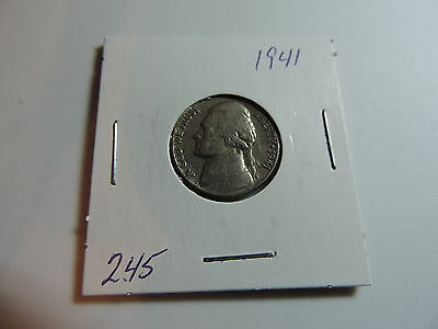 1941 US American Nickel coin A544