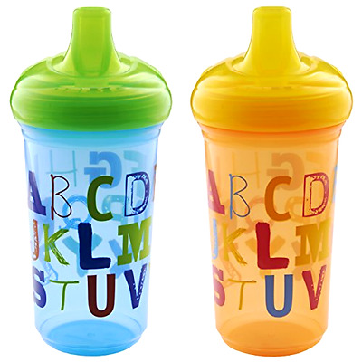 Munchkin Alphabet Sippy Cup, 9 Ounce, 2 Count - Free 2 Day Shipping
