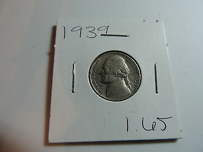 1939 US American Nickel coin A571