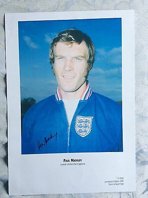 Paul Madeley Hand Signed Photo
