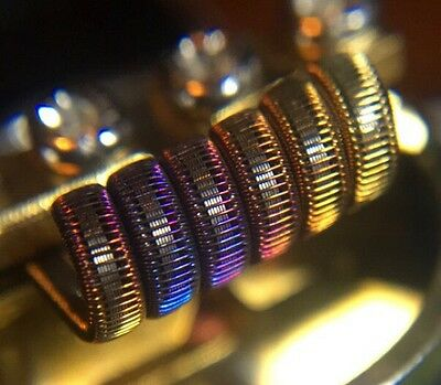 2 KPN80 6 Ply 6 Wrap Staple Staggered Fused Clapton Coils + Free Coils/Cotton!