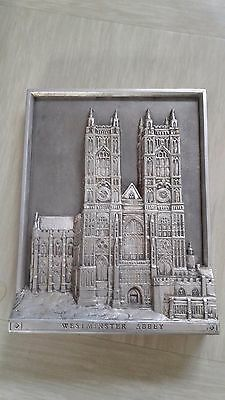vintage Marcus Designs ceramic wall plaque Westminster Abbey handmade