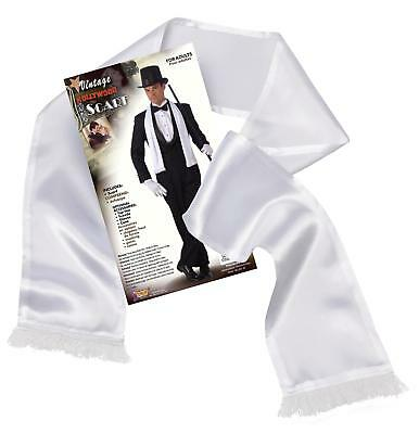 FANCY DRESS White Gangster Moll 1950's Scarf