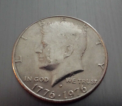 """COIN AUCTION:  Kennedy Half Dollar 1776-1976 """"D""""  - starting at $0.01"""