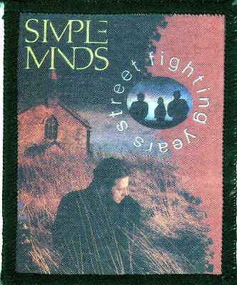 SIMPLE MINDS STREET FIGHTING YEARS rare 90.s SEW PATCH