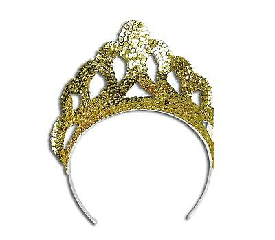 FANCY DRESS Gold Sequin Mermaid Style Tiara
