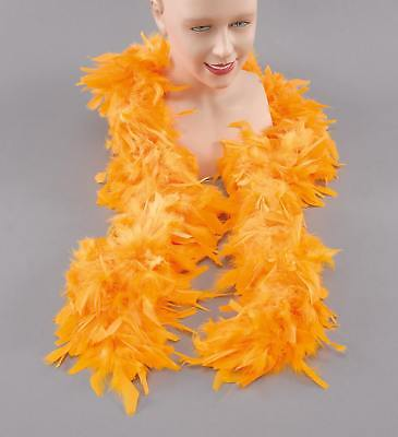 FANCY DRESS Feather Boa. Yellow