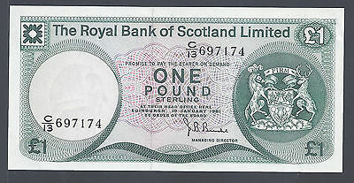 Scotland (Royal Bank) 1981 -- UNC -- 1 Pound, P336 (7174)
