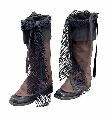 FANCY DRESS Pirate Boot Tops. Brown Distressed Look