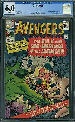 Avengers 3 CGC 6.0 - White Pages