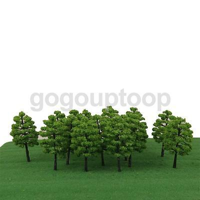 20 Green Model Tree Train Architecture Forest Park Scene Layout 1:100 HO OO
