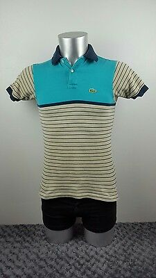 Men's Izod Lacoste polo shirt, blue and grey, small [ref:1399]