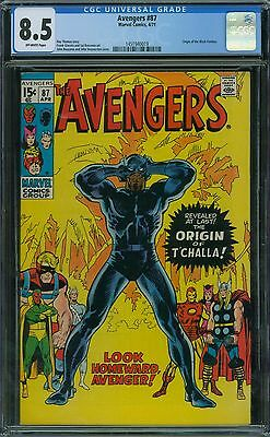 Avengers 87 CGC 8.5 - Off-White Pages - Origin of Black Panther