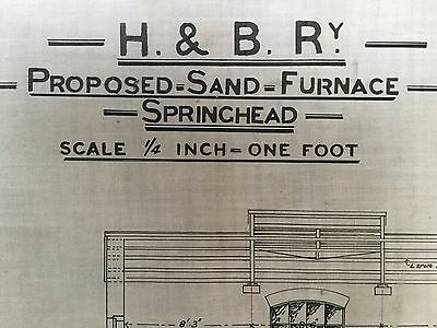 Hull & Barnsley Railway Springhead. Plan Of Proposed Sand Furnace. Dated 1884.