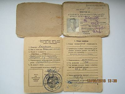 Student card + military document. For one. USSR