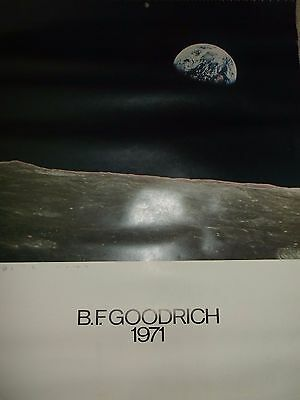 RARE B.F. Goodrich 1971 Space Calender Size 26 X 19 Inches