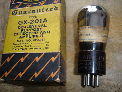Airline GX-201A radio tube NOS in Box