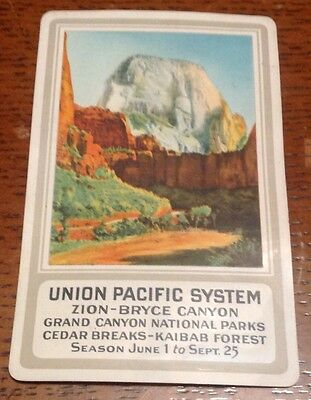 1933- Celluloid Pocket Calendar - Union Pacific System, Zion-Bryce Canyon