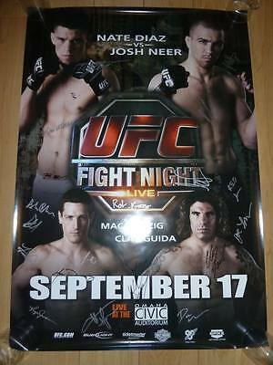 BELLATOR 158 London 11x17 Autographed Poster MMA UFC Signed MVP Cyborg Daley
