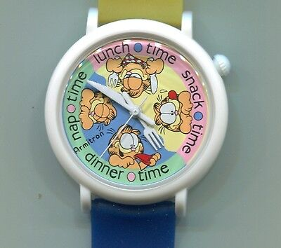 Garfield Knife And Fork Watch-New Old Stock