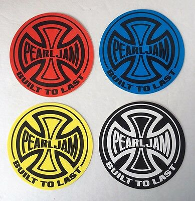 NEW Lot Of 4 Pearl Jam 'Built To Last' Stickers, 4 Different Colors - Comp. Set