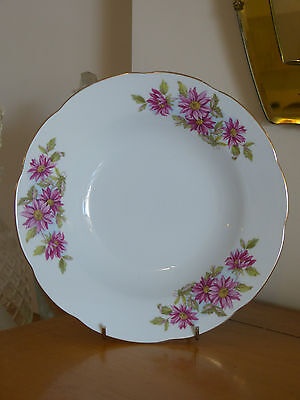 Mint! Pretty 1950'S Vintage Porcelain Serving Bowl With Pink Flowers!